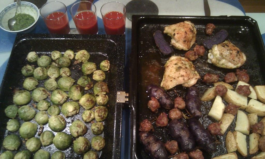 Chicken chops, spicy pork and fennel sausage | Chicken ...