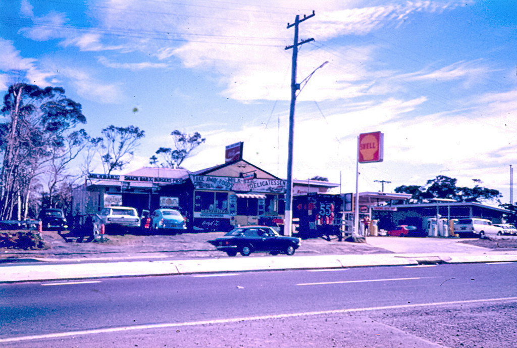Free Car History Report >> Shell service station at Kariong, circa 1970s | Food ...