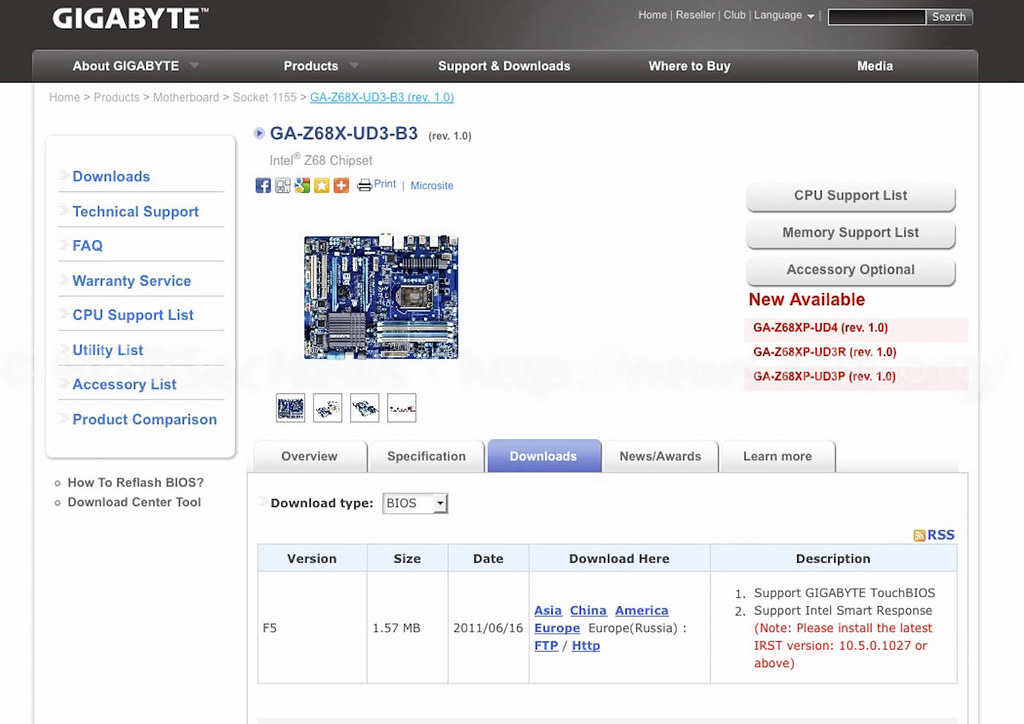 Gigabyte F5 Bios Download Page | (The Dawgs Eye View) | Flickr