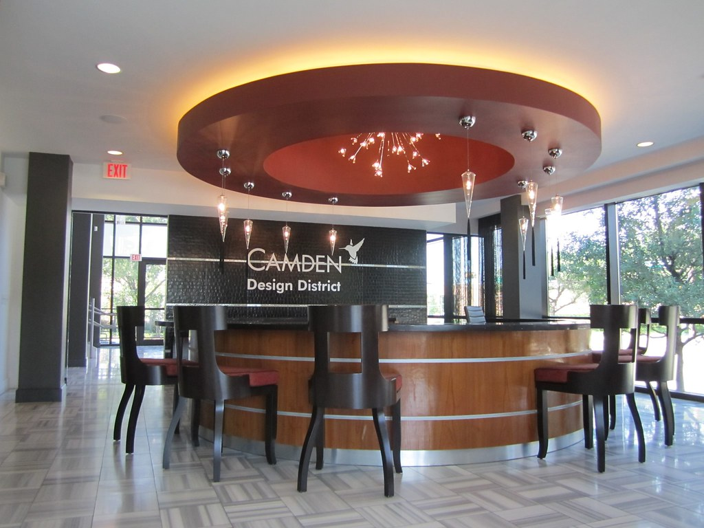 Camden design district leasing office kendall shiffler for Leasing office decorating ideas