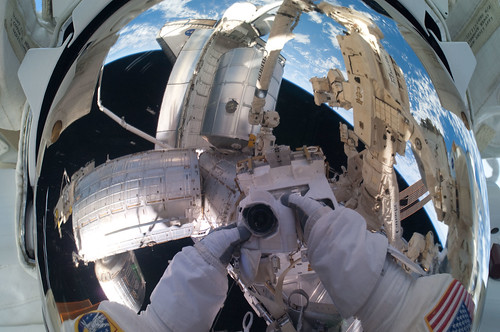 Helmet View from Astronaut Mike Fossum | by NASA Goddard Photo and Video