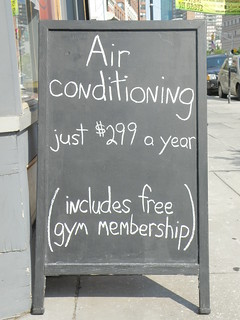 Air conditioning, just $299 a year... includes free gym membership. | by Offbeat Jersey