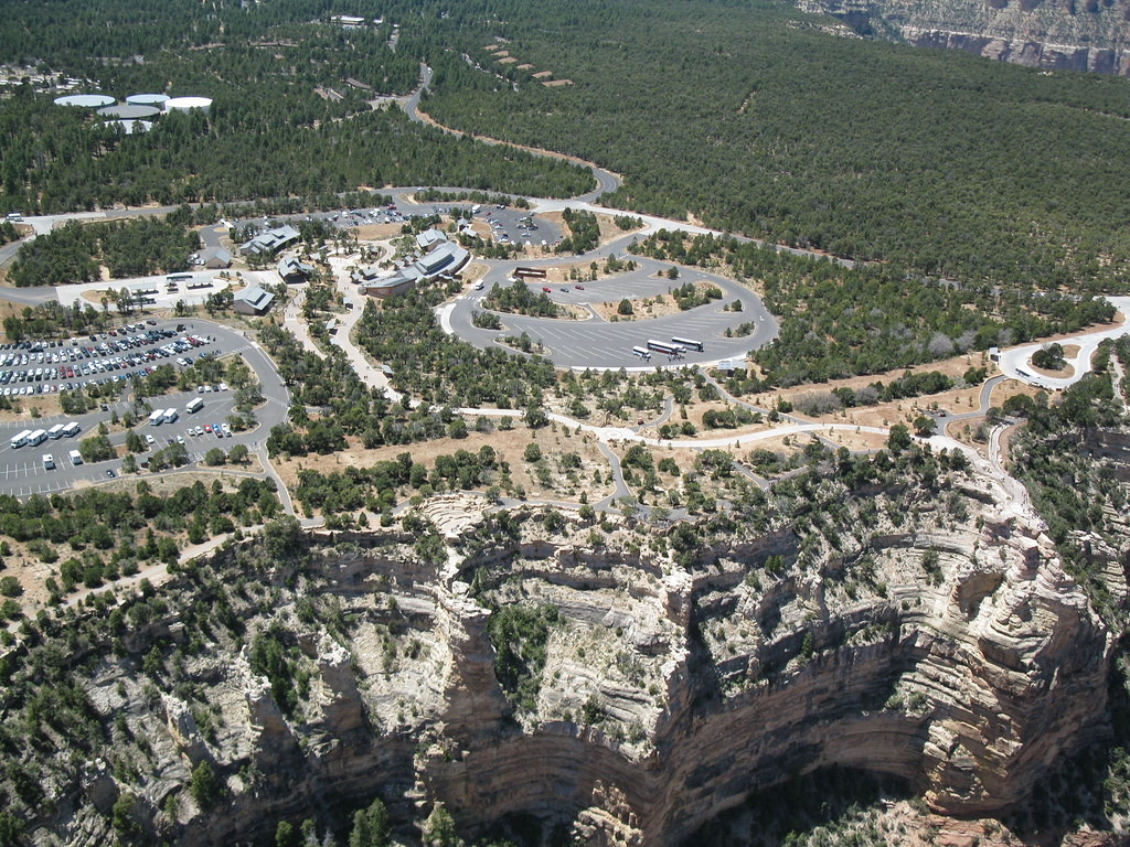Grand Canyon Village >> Grand Canyon: Visitor Center Parking 026 | View looking ...