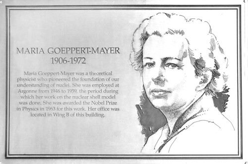 Maria Goeppert Mayer plaque | by Argonne National Laboratory
