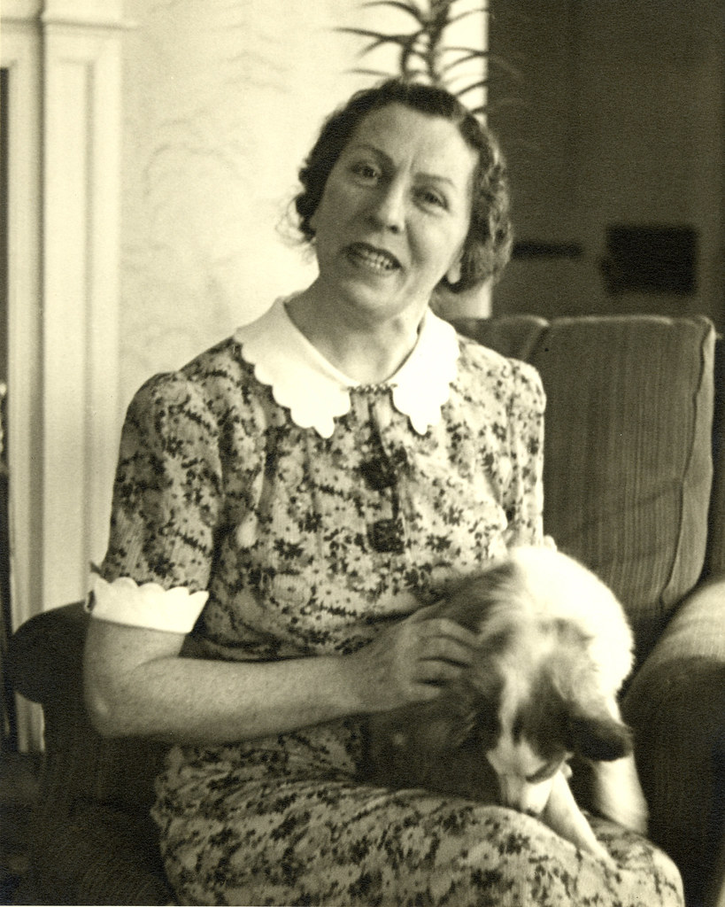 Polly Thomson With Dog Description Polly Thomson Seated