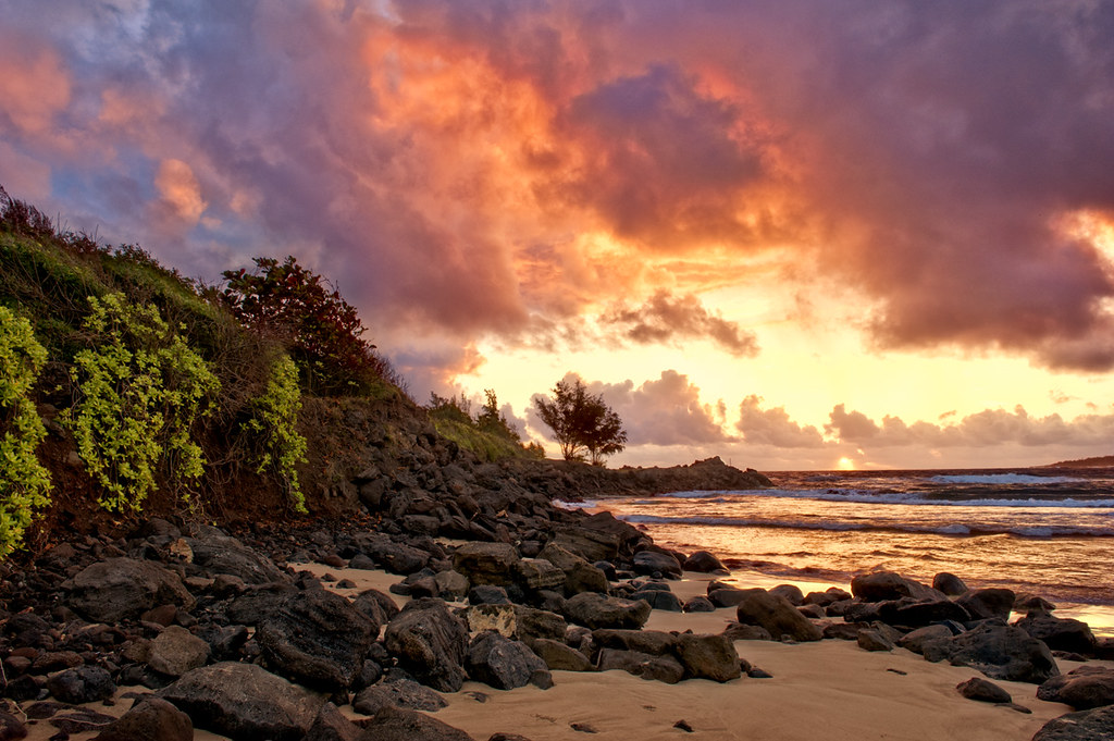 Nice Morning Kalihiwai Beach Kauai Mojo2u Flickr