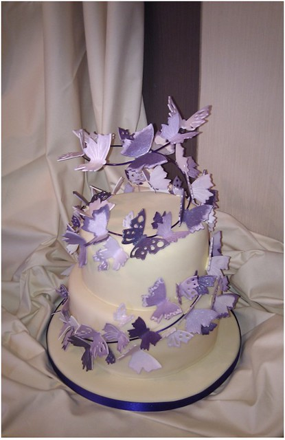 Purple Butterfly Wedding Cake Flickr Photo Sharing