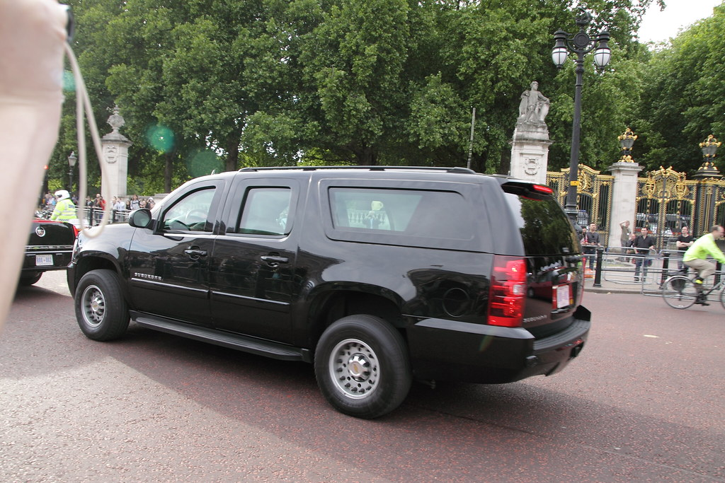 Secret Service Chevrolet Suburban Arriving At Buckingham P