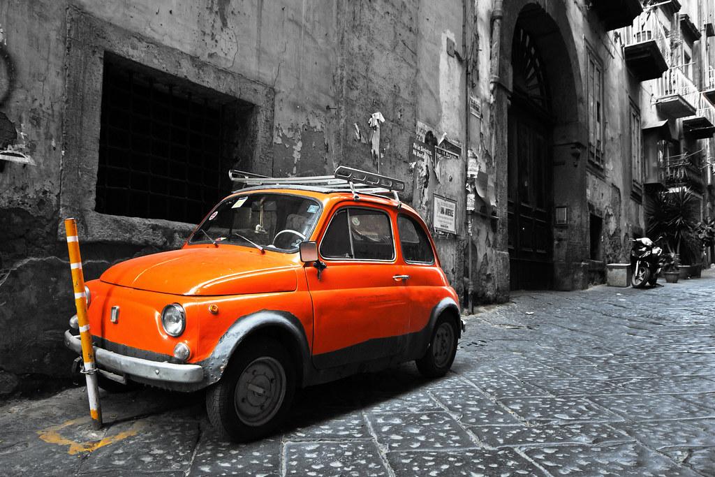 fiat 500 orange back from vacation support me in faceb flickr. Black Bedroom Furniture Sets. Home Design Ideas