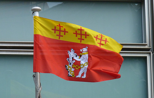 Warwickshire flag flying outside Eland House | by Ministry of Housing, Communities and Local Govt