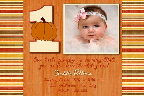 Pumpkin halloween birthday invitations cards flickr filmwisefo