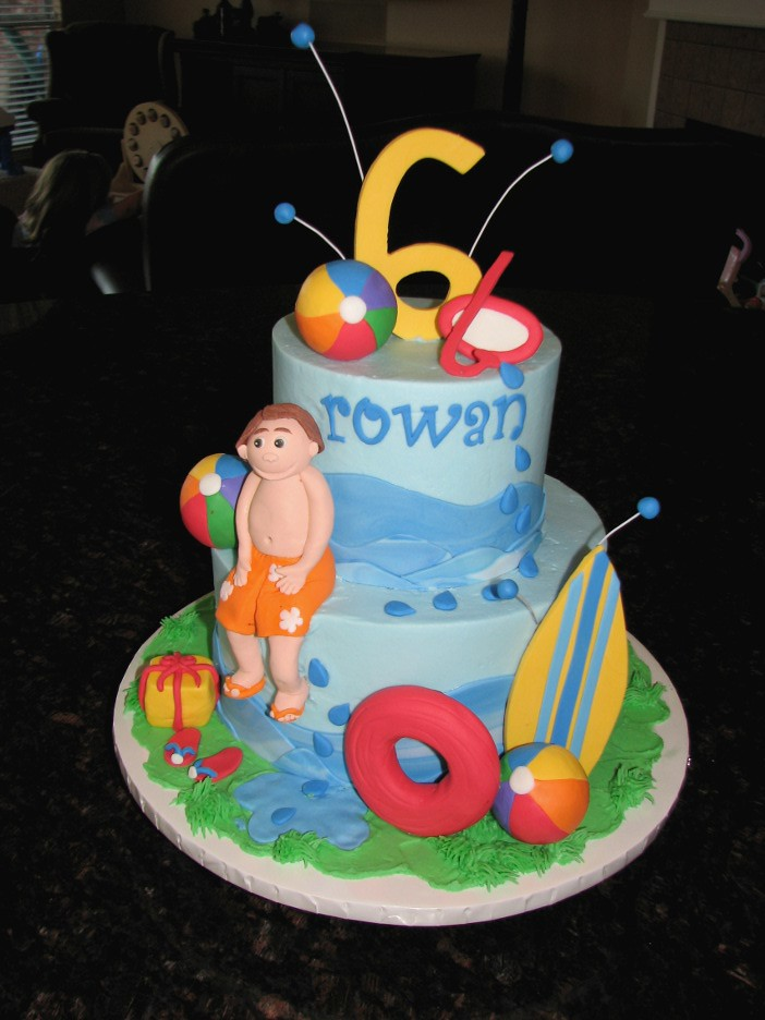 Pool Party Cake Made this for a little boy s pool party ...