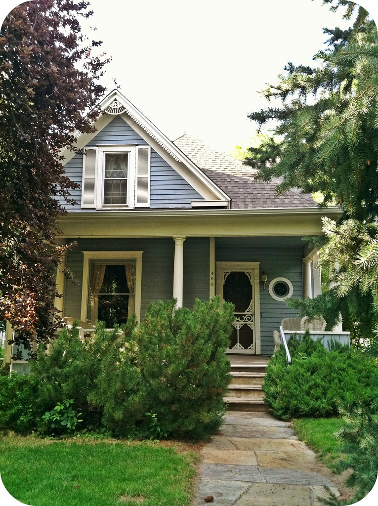 Adorable little blue Victorian cottage | Fort Collins, CO
