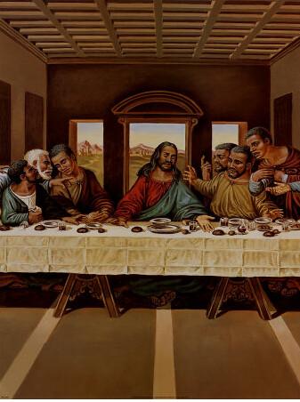 Black Jesus The Last Supper Panda Loverz Flickr