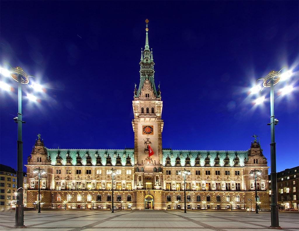 Hamburg Rathaus At Dusk My Own Take Of This Fabulous
