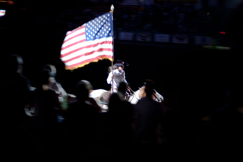 Stars & Stripes at the start of a rodeo show | by Lars Plougmann