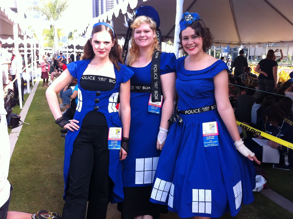... Comic conTARDIS costumes | by cindyli  sc 1 st  Flickr & Comic con:TARDIS costumes | cindyli | Flickr