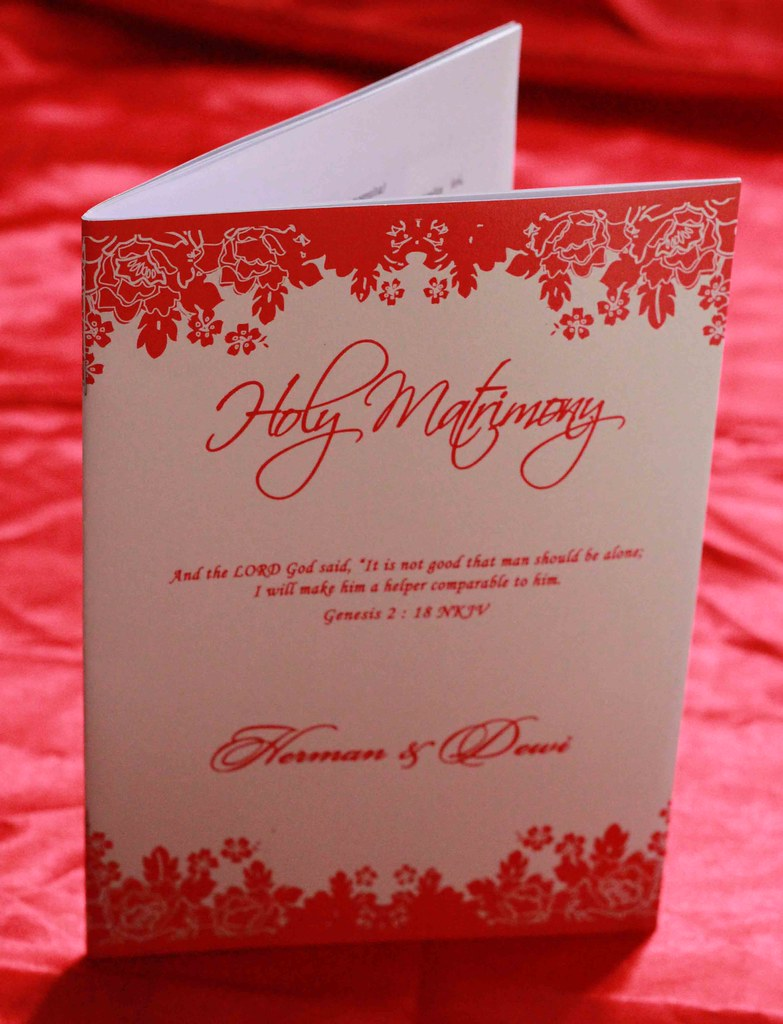Buku Pernikahan Gereja Herman Dewi Buku Misa Pernikaha Flickr