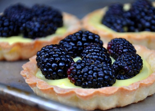Lemon Curd Tartlets With Blackberries | by akbrouwer