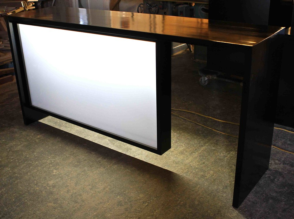 Custom modern bar frosted glass led panel Had 1 12 Days