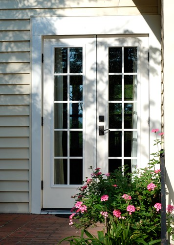 New french doors exterior view the estate of things flickr - How wide are exterior french doors ...