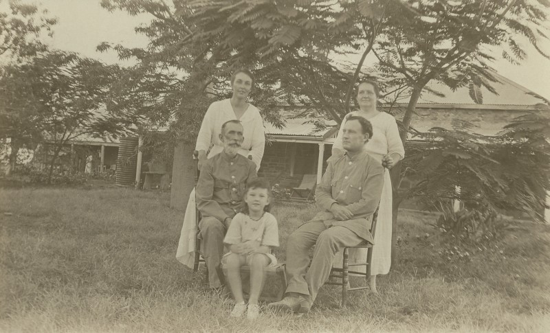 1920 ca Ambrose and Nance Durack Young Ambrosine Rademy and his Wife at Argyle Downs -Crop - KHS-2011-11-PD-20