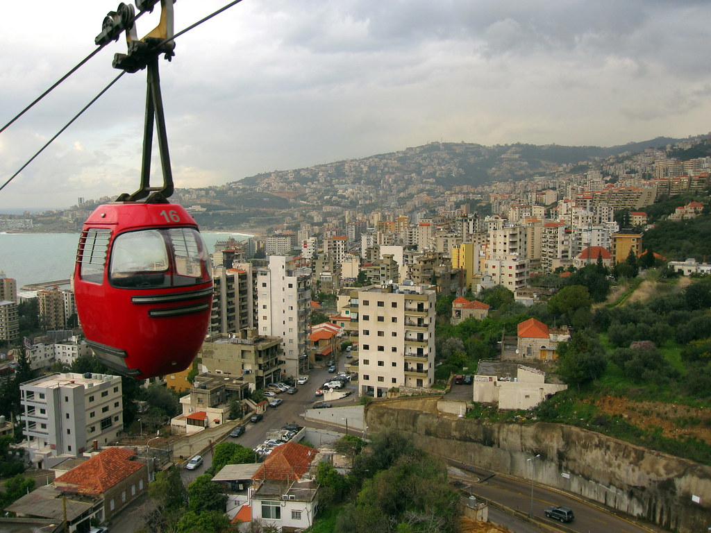 Jounieh Lebanon  city photos : Teleferique in Jounieh, Lebanon | Cable car connecting Jouni ...