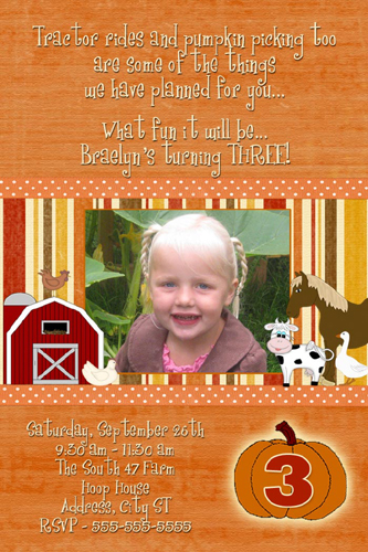 pumpkin  halloween birthday invitations cards  flickr, Birthday invitations