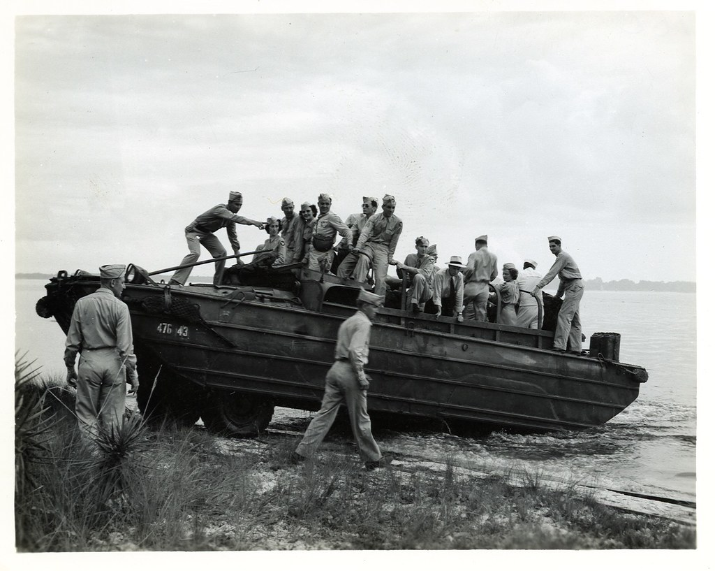 One Ton Truck >> 160 DUKW at Tyndall Field, Florida WWII | DUKW-353 (The ...