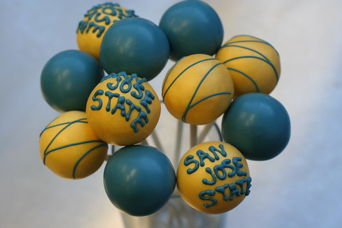 San Jose State Cake Pops | by Sweet Lauren Cakes
