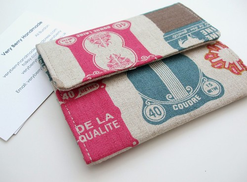 Card wallet - retro haberdashery | by Very Berry Handmade