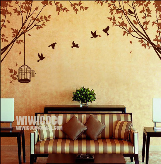 Branch and birdcage --Removable Wall Art Home Decors Mural… | Flickr