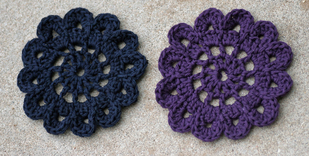 Crochet Japanese Flowers Made Using This Tutorial Byeliza Flickr