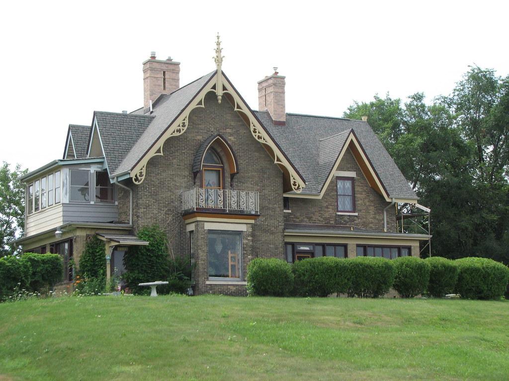 Russel bennett farmhouse c 1855 the last gothic revival for Gothic revival farmhouse