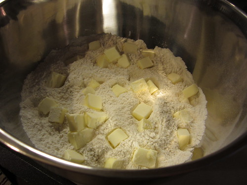 sprinkle the butter over flour mixture | by Madison Bistro