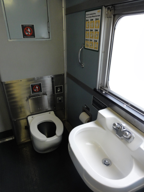 Via rail-Sleeper car women's washroom-looking left   Flickr