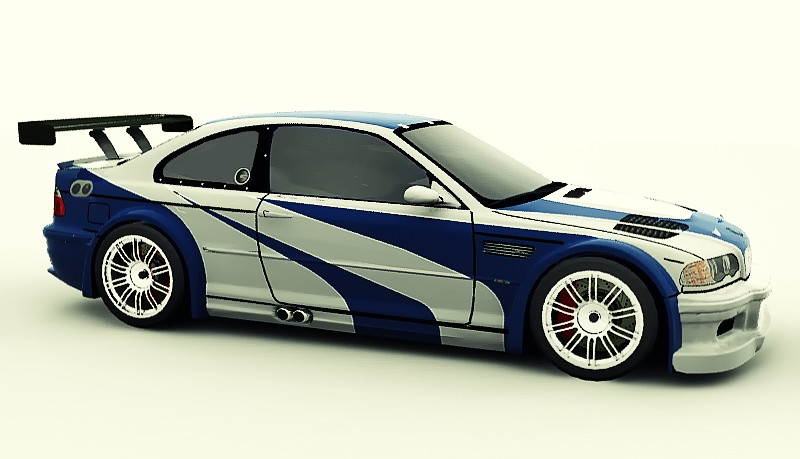 need for speed most wanted bmw m3 gtr 3d model jorge padilla