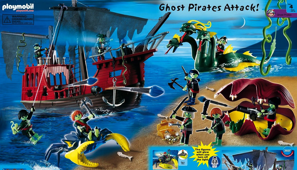 Playmobil Ghost Pirates | Ghost Pirates Attack, as seen on ...