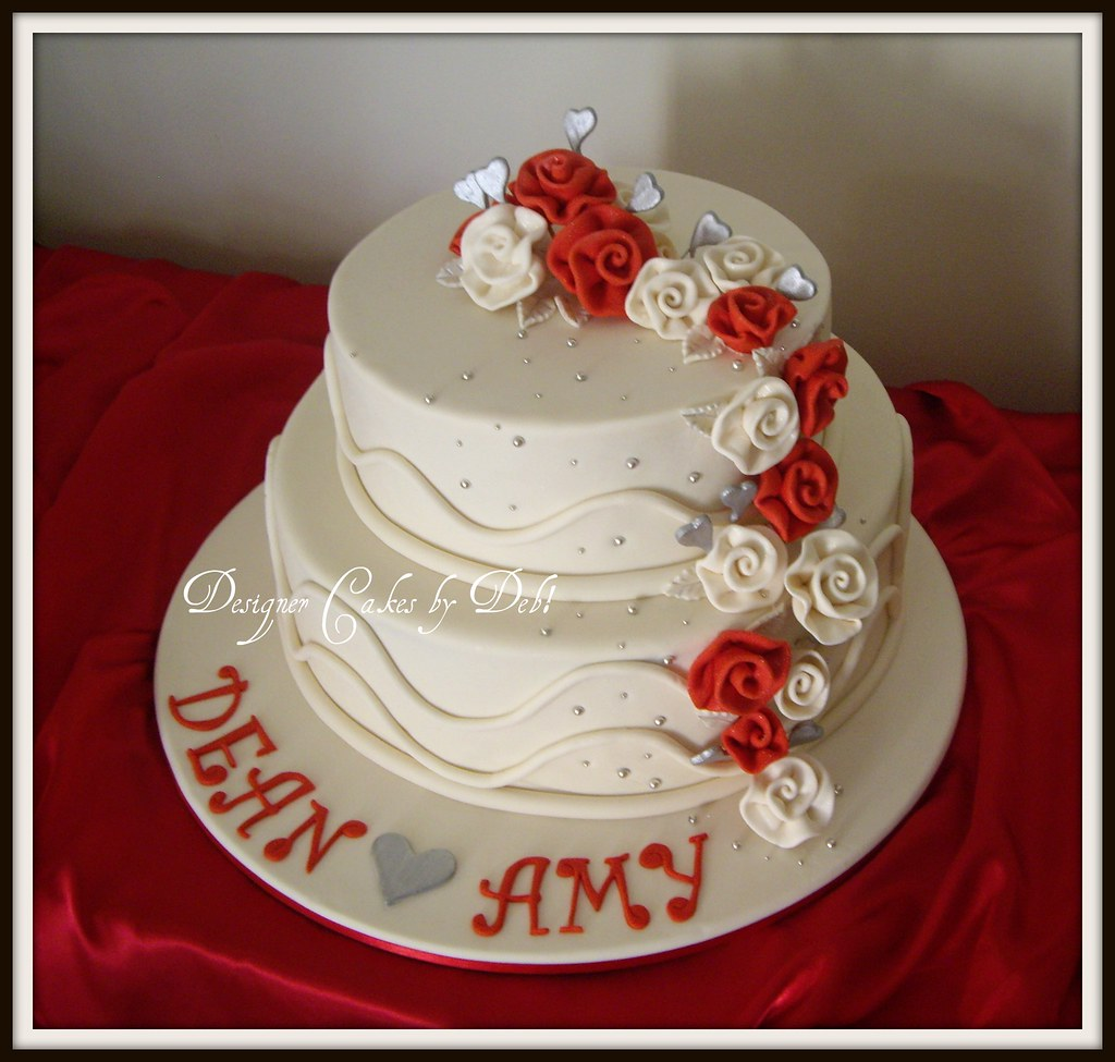 Two Tier Cake With Roses