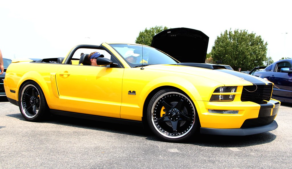 Yellow Mustang 4.6L convertible | Effortlessly uploaded by ...