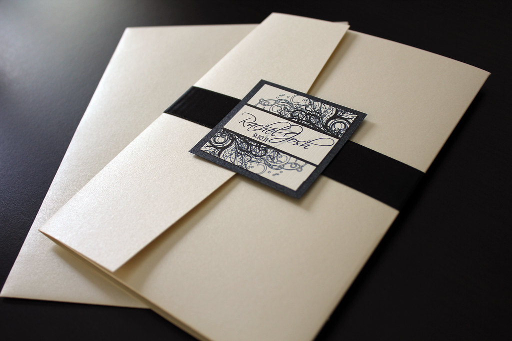Champagne and Black Wedding Invitations Champagne and Blac Flickr