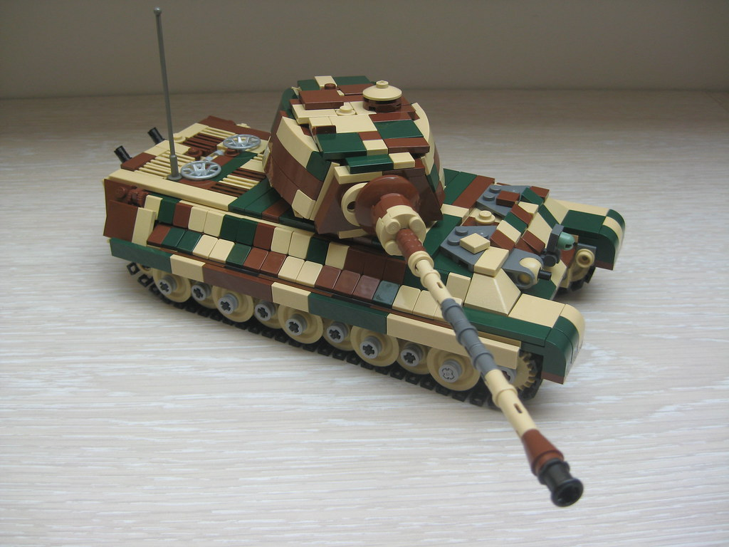 Lego Ww2 Tank King Tiger Konigstiger Tiger 2 King Tiger Ca Flickr