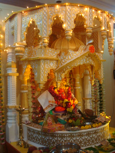 siddhivinayak at home it is made of thermocol its is one