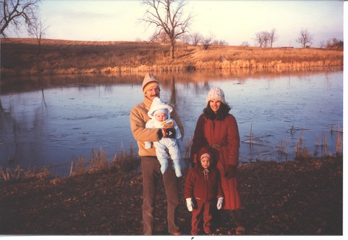 1984 At the old Petrie Wisconsin Land with Mom, Dad, and Evan | by Gemma E. Petrie