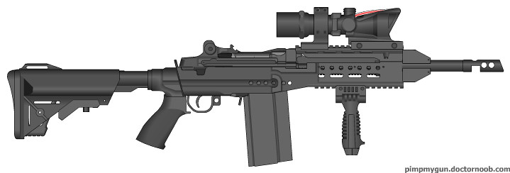 M14 Cqb The M14 Modified With Full Auto And A Shorter Barr Flickr