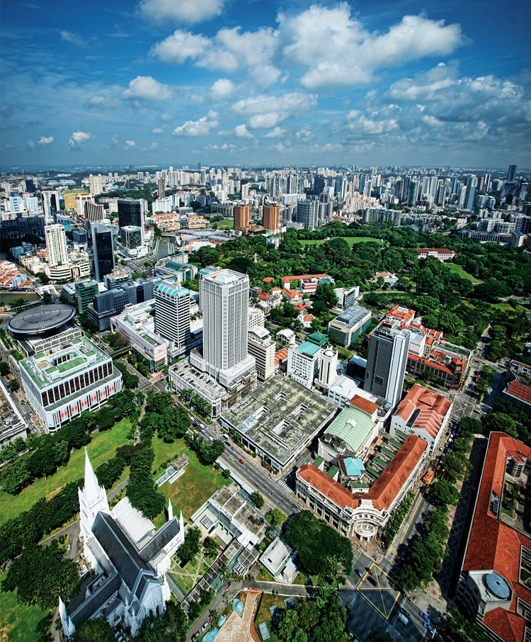 One Stamford Forum: Aerial View Of Stamford & North Bridge Road, Singapore