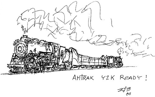 Amtrak y2k all drawings were done by benny banks for Amtrak coloring pages