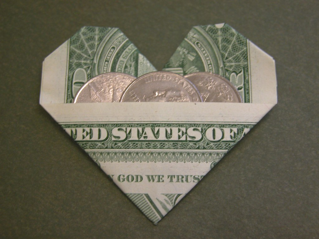 Dollar bill heart | Design: Armin Taubner Book: Geldschein ... - photo#49