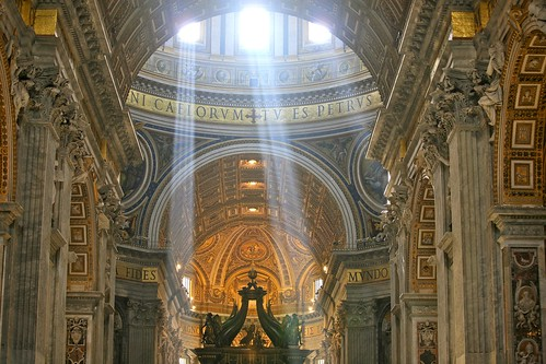 Crepuscular Rays at Noon in Saint Peter's Basilica, Vatican City | by Alex E. Proimos