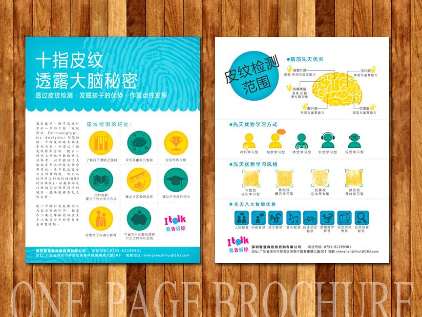 One-Page Brochure | C. Lee | Flickr
